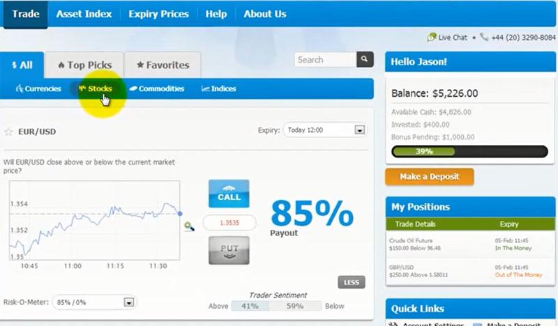 Обзор торговой платформы брокера Optionova